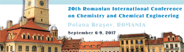 20th Romanian International Conference on Chemistry and Chemical Engineering